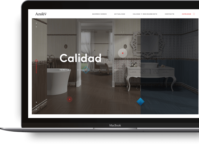 desarrollo web app azulev azulejera
